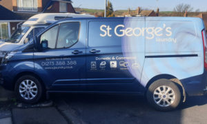 st george's laundry service collection van